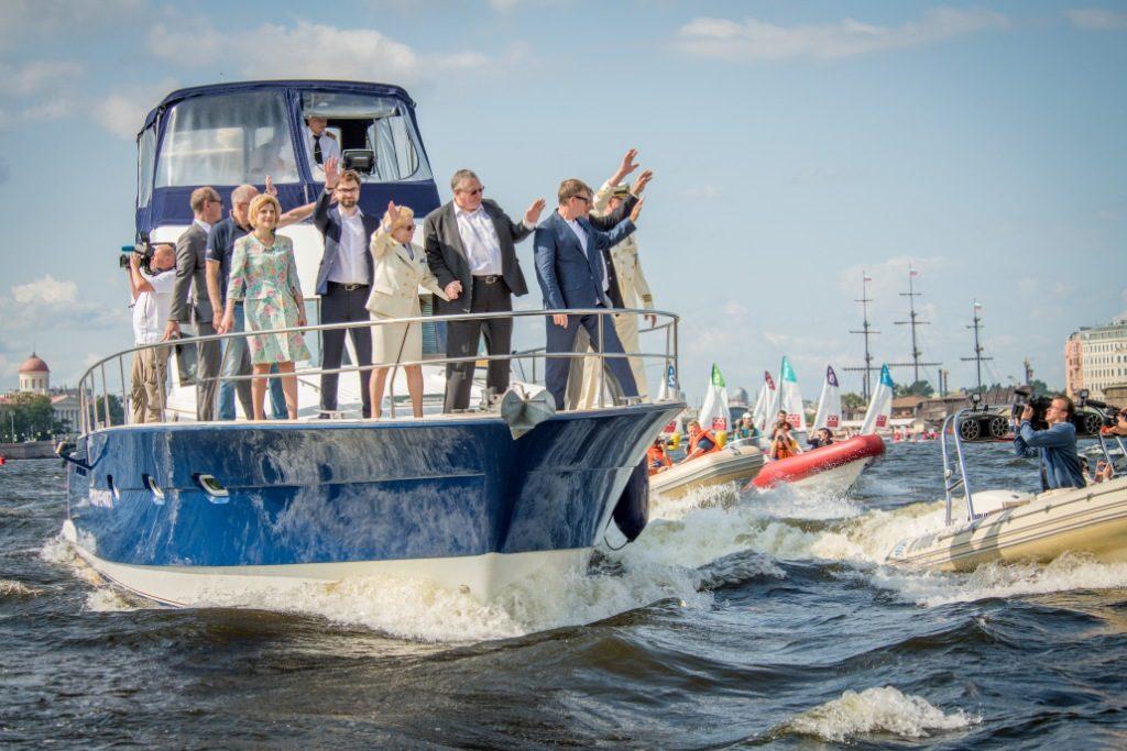 """Официальное открытие """"Балтийской яхтенной недели 2019"""" и губернаторский смотр яхт."""