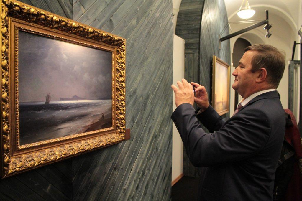 Уникальная выставка«Кронштадтский рейд»  мариниста Ивана Айвазовского открылась в Кронштадте.