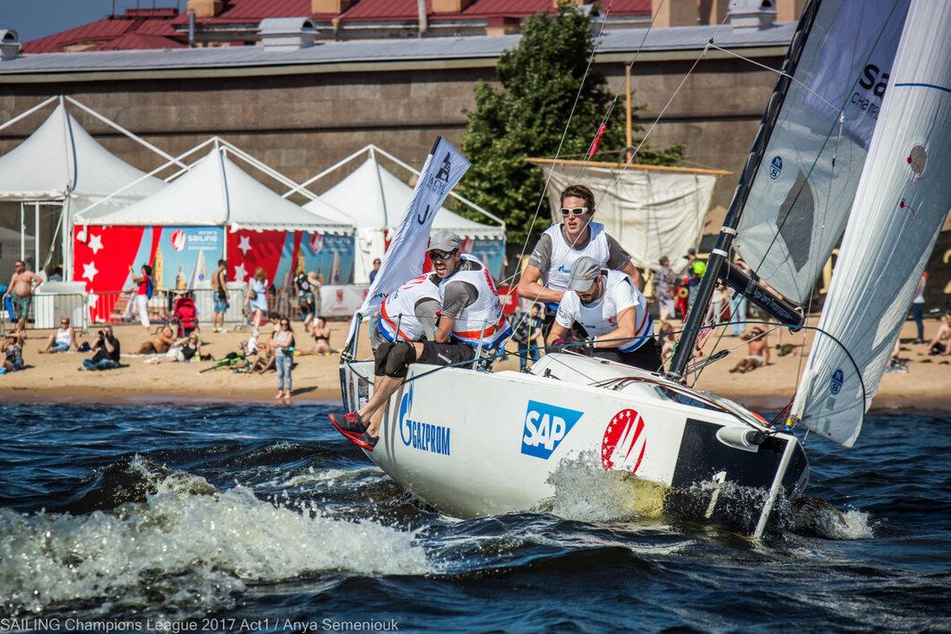 Парусная лига чемпионов Европы 2019 в Петербурге.