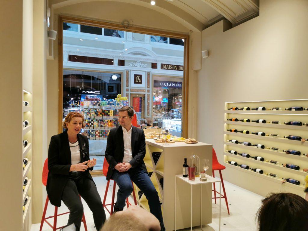 Первый магазин винно-косметической сети магазинов Piemaggio открылся в Пассаже.