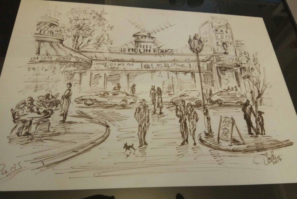 """В лофте """"МЫВМЕСТЕ"""" открылась выставка картин Ольги Дмитриевой (D'olen)  """"Ах, Париж..!""""."""