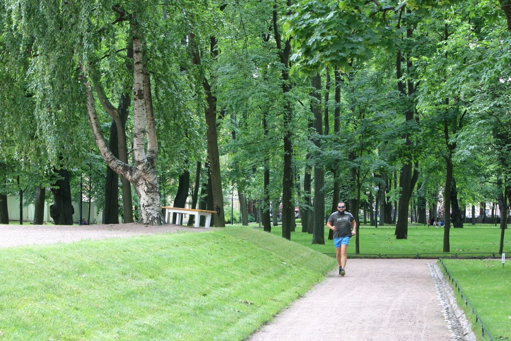 Михайловский сад чист и свеж.