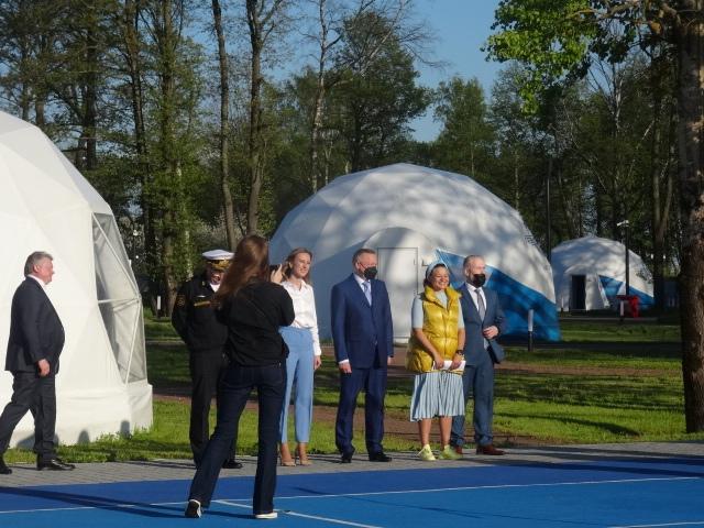 Открытие нового сезона в детском учебно-тренировочном комплексе «Лагерь настоящих героев»